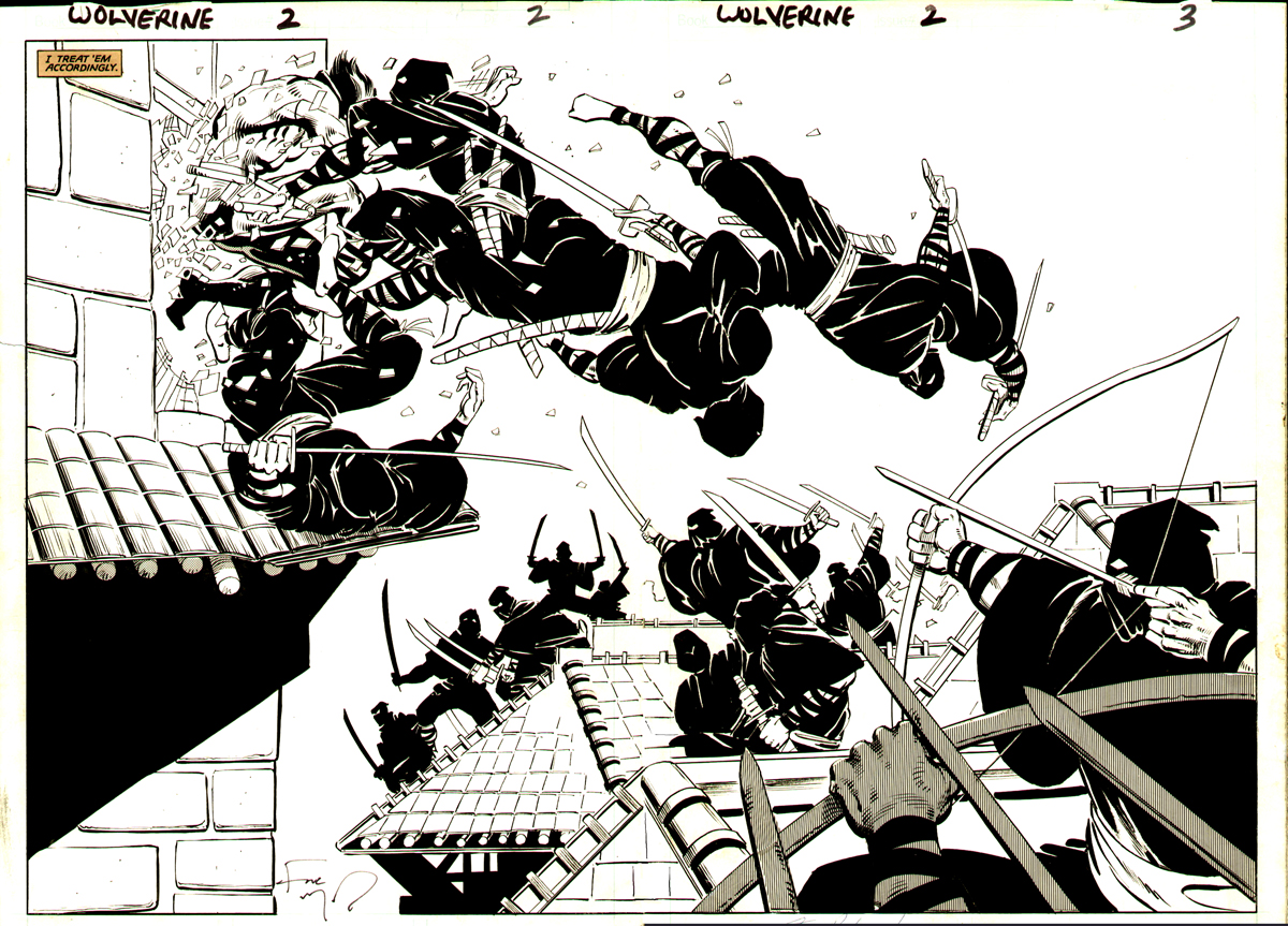 Frank Miller Drawings Production Image of Wolverine