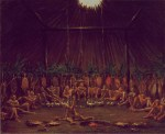 Interior View of the Medicine Lodge, Mandan O-kee-pa Ceremony. Smithsonian American Art Museum